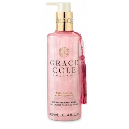 Grace Cole Tekuté mýdlo na ruce Warm Vanilla & Sandalwood 300ml, růžová barva, plast