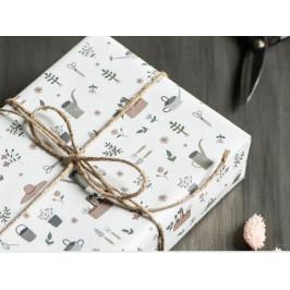 IB LAURSEN Balicí papír Spring Patterns - 5m A - zahrádka, multi barva, papír