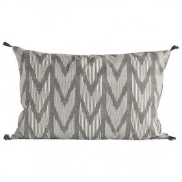 Tine K Home Bavlněný povlak na polštář Black 50x70cm, šedá barva, textil