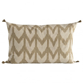 Tine K Home Bavlněný povlak na polštář Walnut 50x70cm, béžová barva, hnědá barva, textil