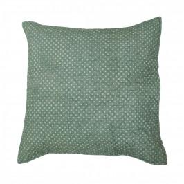 Krasilnikoff Prošívaný povlak na polštář Dots Dusty Green 50x50cm, zelená barva, textil