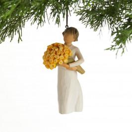 Willow Tree Willow Tree - Měj se hezky! - závěsný, žlutá barva, krémová barva, pryskyřice