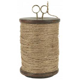 IB LAURSEN Jutový provázek na špulce s dekorativními nůžkami, přírodní barva, dřevo, kov