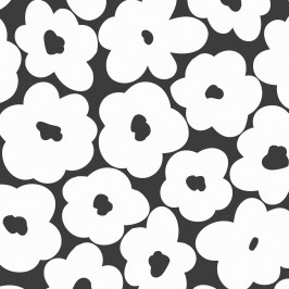 TAFELGUT Balicí papír Blossom - 2 listy, černá barva, bílá barva, papír