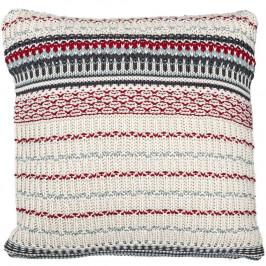 Bloomingville Pletený polštář Autumn Vibes 45 x 45 cm, multi barva, textil