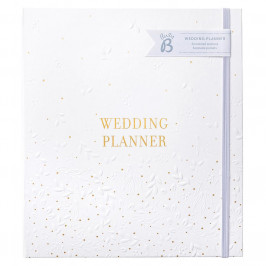 Busy B Svatební plánovač White Big, bílá barva, papír