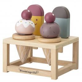 Bloomingville Dřevěná hračka - zmrzlinárna, multi barva, dřevo