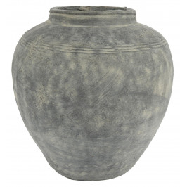 IB LAURSEN Obal na květiny Cement Cleopatra 37cm, šedá barva, přírodní barva
