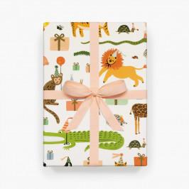 Rifle Paper Co. Balicí papír Party Animals - 1 list, multi barva, papír