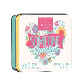 SCOTTISH FINE SOAPS Mýdlo v plechové krabičce Someone Special 100g, růžová barva, kov