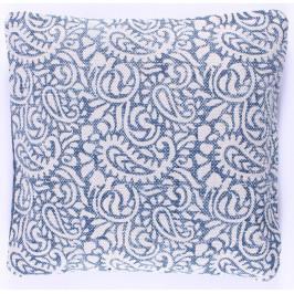 La finesse Povlak na polštář Blue Print 50x50, modrá barva, textil