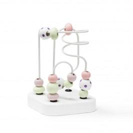 Kids Concept Motorický labyrint Edvin Pink, růžová barva, dřevo, kov