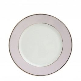 Porcelánový talíř Ginger Rose - 27cm, růžová barva, fialová barva, porcelán