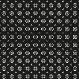 Balicí papír Circle black - 10m, černá barva, papír