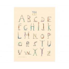 Plakát Jógová abeceda, multi barva, papír