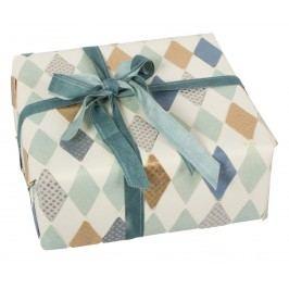 Dárkový balící papír Harlekin blue 70 cm, modrá barva, zelená barva, multi barva, papír