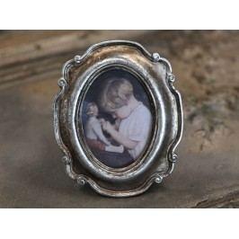 Fotorámeček Silver oval, zlatá barva, stříbrná barva, dřevo