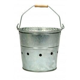 Garden Trading Přenosný grill BBQ - menší, šedá barva, kov, zinek