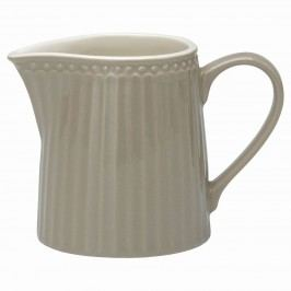 Džbánek na smetanu Alice warm grey 250 ml, šedá barva, porcelán