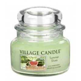 Svíčka ve skle Summer slices - malá, zelená barva, sklo
