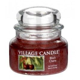 Svíčka ve skle Black cherry - malá, červená barva, sklo