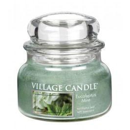 Svíčka ve skle Eucalyptus Mint - malá, zelená barva, sklo