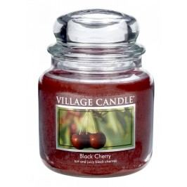 Svíčka ve skle Black cherry - střední, červená barva, sklo
