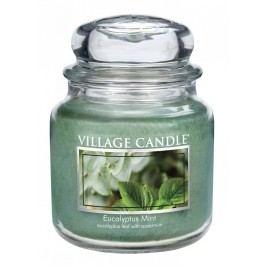 Svíčka ve skle Eucalyptus Mint - střední, zelená barva, sklo