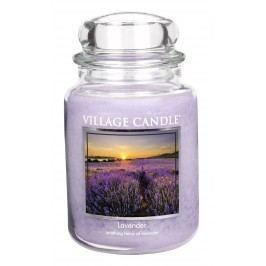Svíčka ve skle Lavender - velká, fialová barva, sklo, vosk