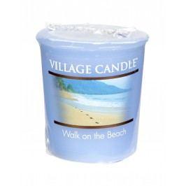 Votivní svíčka Village Candle - Walk on the beach, modrá barva