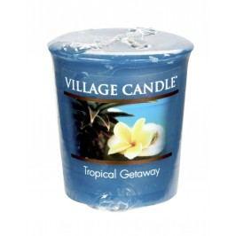 Votivní svíčka Village Candle - Tropical Getaway, zelená barva