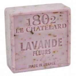 Mýdlo s peelingem z Marseille - levandule květ, fialová barva