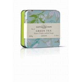 Mýdlo v plechové krabičce - ZELENÝ ČAJ, zelená barva