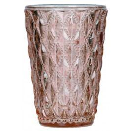 Blossom Skleněný svícen Crystal Salmon rose, růžová barva, oranžová barva, sklo