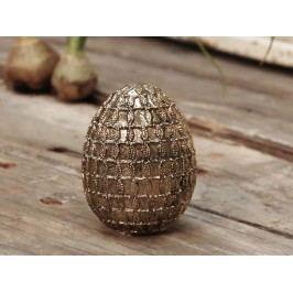 Dekorativní velikonoční vejce Antique gold, zlatá barva