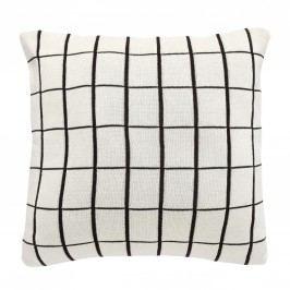 Polštář Grid White 50x50 cm, bílá barva, textil