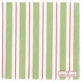 Papírové ubrousky Elinor green - menší, zelená barva, papír