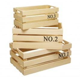 Dřevěná bedýnka Natural Velikost S, béžová barva, hnědá barva, dřevo