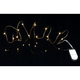 Svítící LED drátek Brass String, zlatá barva
