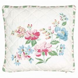 Vyšívaný povlak na polštář Donna white 40x40, multi barva, textil