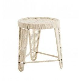 Stolička s jutovým výpletem Natural, béžová barva, krémová barva, textil