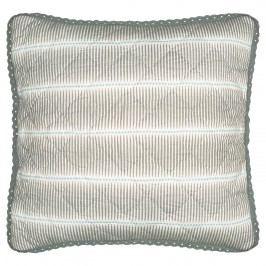 Povlak na polštář s krajkou Vita sand 40x40, šedá barva, textil