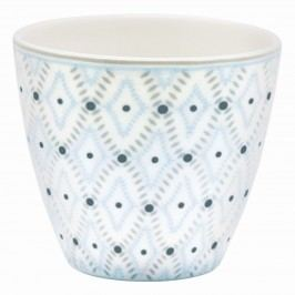 Latte cup Elsa sand, modrá barva, šedá barva, porcelán 300 ml