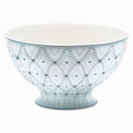 Polévková miska Elsa sand, modrá barva, šedá barva, porcelán