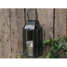 Nástěnná lucerna French, černá barva, sklo, kov