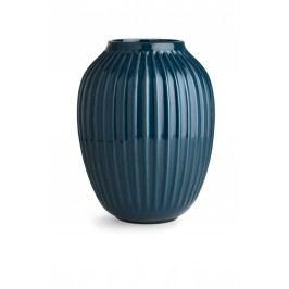 Keramická váza Hammershøi Petroleum 25 cm, modrá barva, zelená barva, keramika