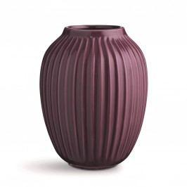 Keramická váza Hammershøi Plum 25 cm, fialová barva, keramika