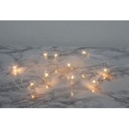 Světelný LED řetěz Globe/white, bílá barva, čirá barva, sklo, plast
