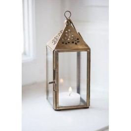 Lucernička Triangular, měděná barva, sklo, kov