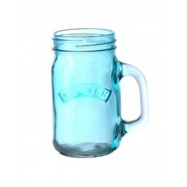 Sklenice s uchem Blue 350 ml, modrá barva, sklo